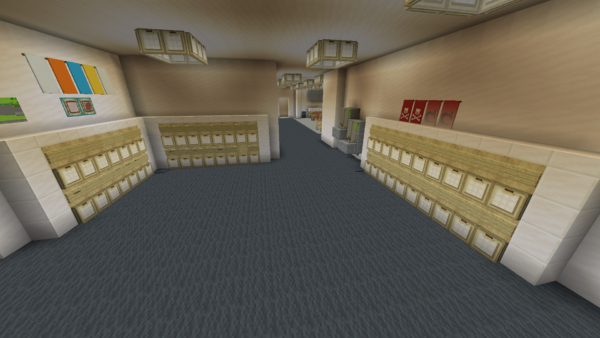 Exact replica of TNS built in Minecraft 10