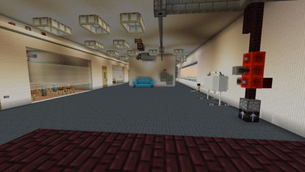 Exact replica of TNS built in Minecraft 31