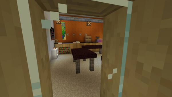 Exact replica of TNS built in Minecraft 29
