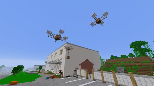 Exact replica of TNS built in Minecraft 28
