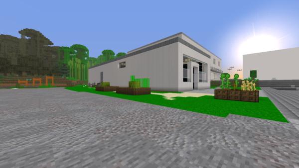 Exact replica of TNS built in Minecraft 26